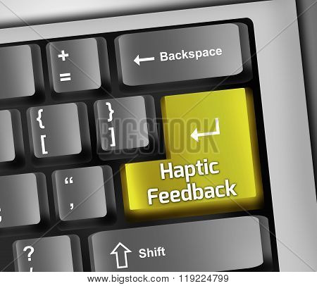 Keyboard Illustration Haptic Feedback