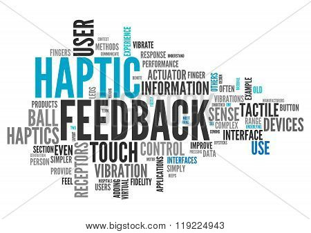 Word Cloud Haptic Feedback