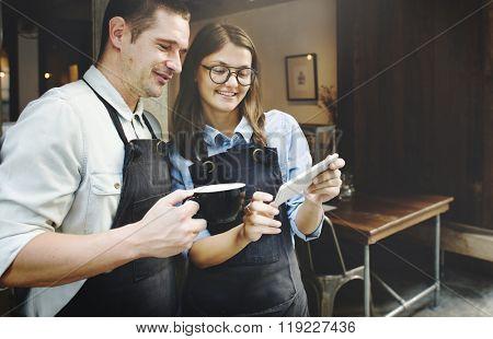 Barista Breaking Service Partner Concept