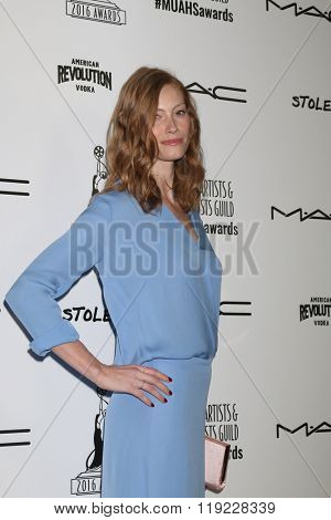 LOS ANGELES - FEB 20:  Alyssa Sutherland at the Make-Up Artists And Hair Stylists Guild Awards at the Paramount Studios on February 20, 2016 in Los Angeles, CA