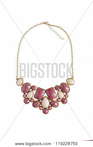 A Nice Colorful Necklace Isolated On White