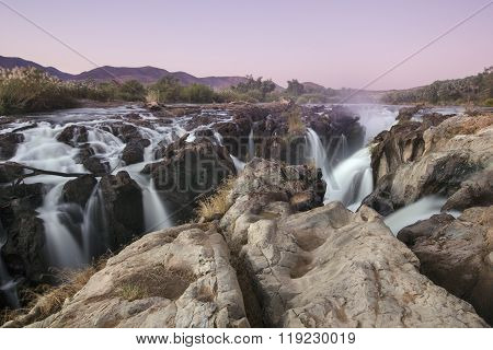 Epupa Falls on the international border of Angola and namibia