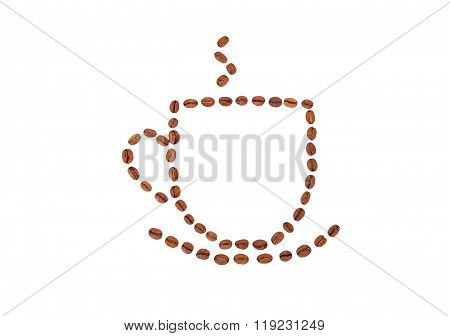 Cup Of Coffee From Bean