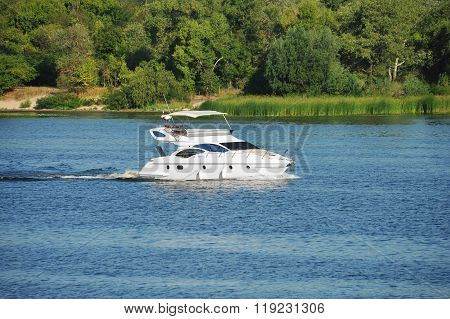 Motorboat On River
