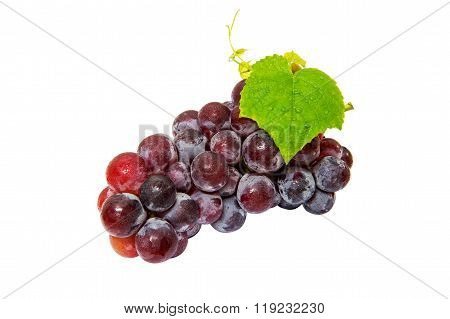Grapes Isolated On White Background.