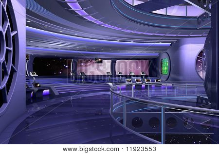 3D rendering of a spaceship