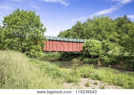 Covered Bridge Over Little Muskingum