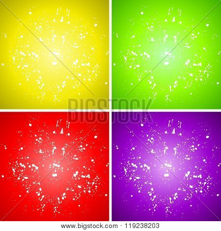 Vector Plain Paint Splash Color Background Set
