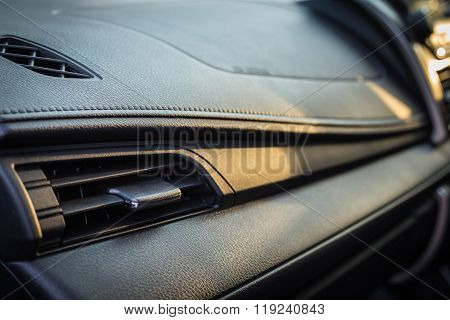 Detail Of New Modern Car Interior