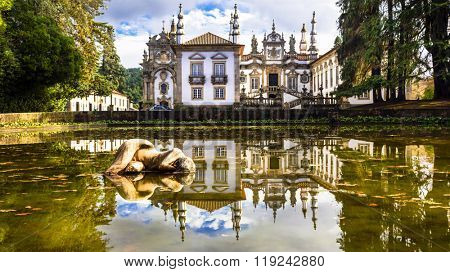 beautiful Vila real castle (museum) in Portugal - Solar de Mateus