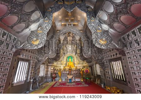 Chiang Mai, Thailand - January 17 : Beautiful Temple (wat Sri Suphan). The First Temple In The World