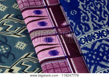 Colourful Malaysian Sarongs Neatly Folded