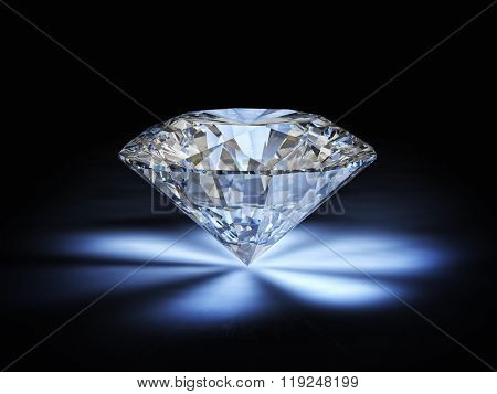 diamond classic cut on white background