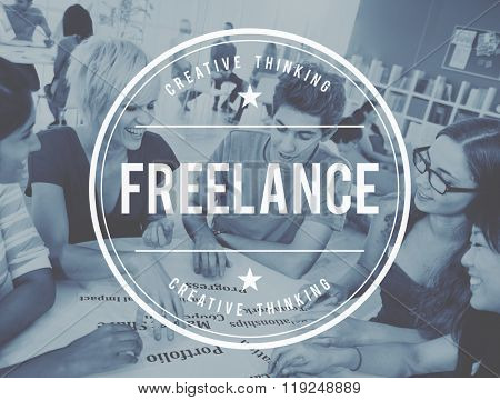 Freelance Contract Career Freedom Independent Concept