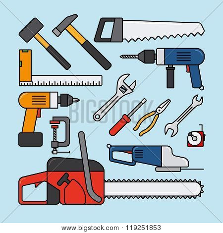 Working tools icons