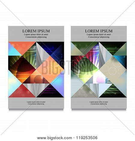 Stock Vector Business Template For Brochure, Flyer, Card, Cover, Book With Patchwork Design