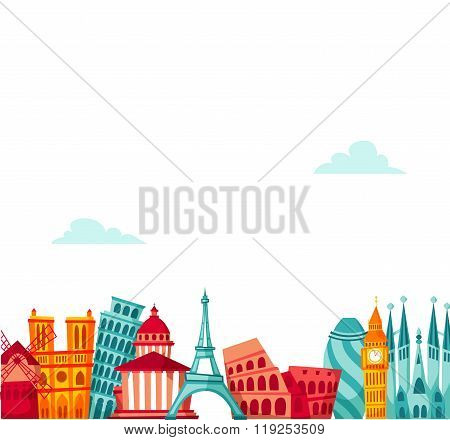 Europe travel background.