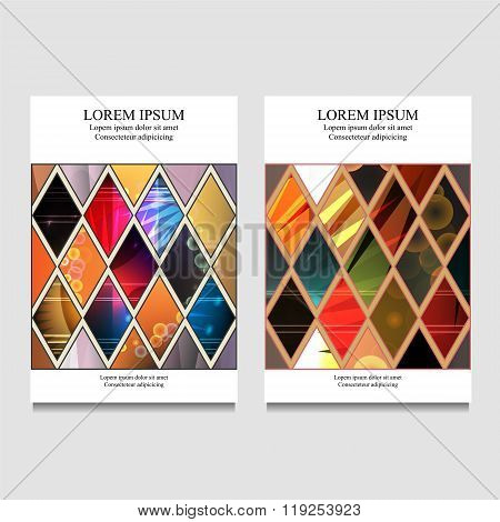 stock vector business template for brochure flyer card cover book with patchwork design