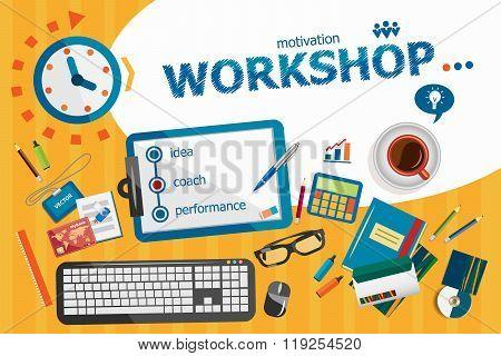 Workshop Concept. Typographic Poster.