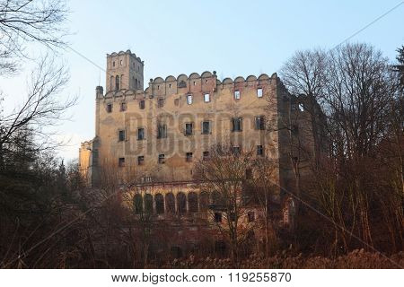 Ruins of Castle in Ratno Dolne at Poland