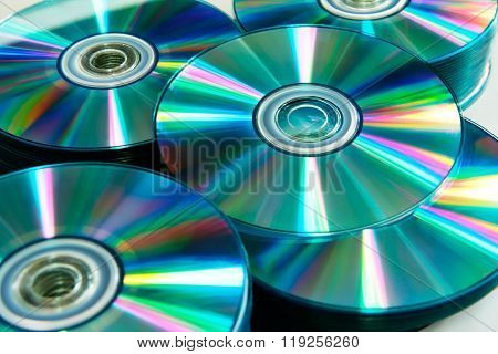 Close Up Cd And Dvd Background