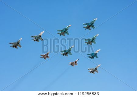 Group Of Military Aircraft - Fighters And Bombers