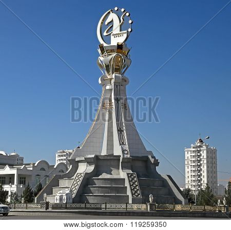 Ashgabat, Turkmenistan - October 19, 2015. Monument 5 Th Asian Indoor Games And Martial Arts, Which