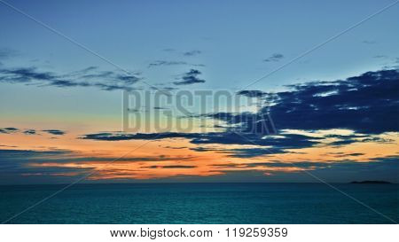Sea, sky and sunset