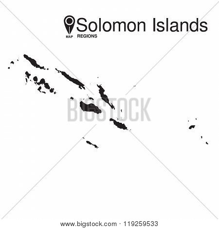 Solomon Islands map regions