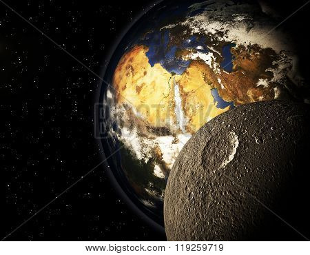 3D Planet In The Space