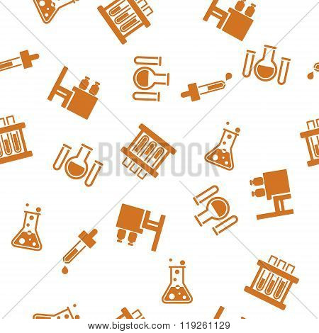 Chemical Ware Seamless Seamless Flat Vector Pattern