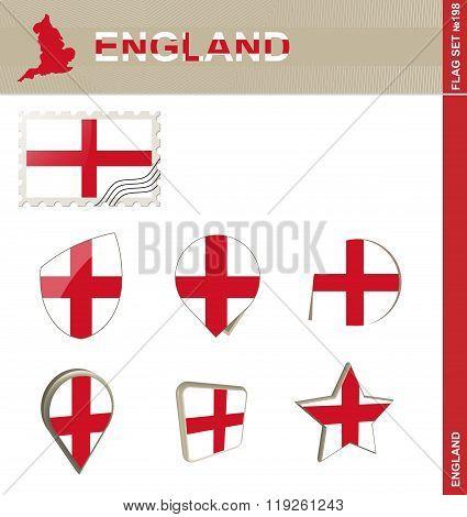 England Flag Set, Flag Set