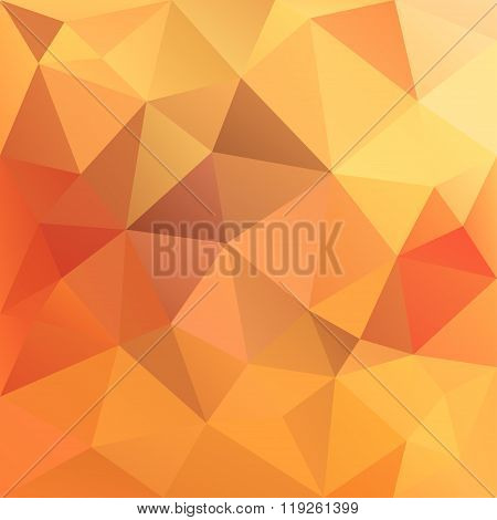 Polygonal Mosaic Abstract Geometry Background Landscape In Red,