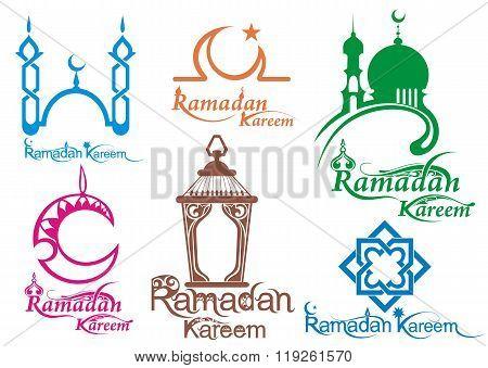 Set of Ramadan icons