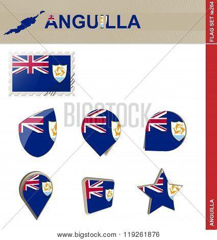 Anguilla Flag Set, Flag Set