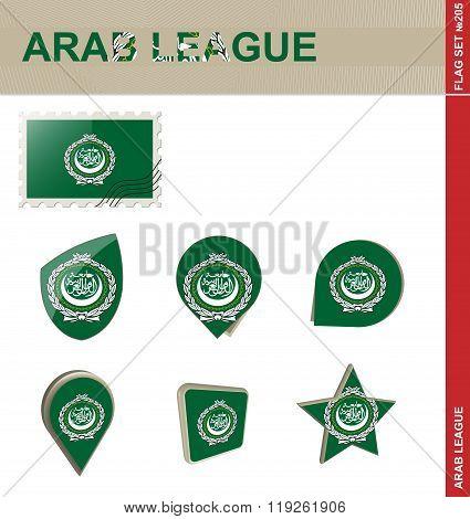 Arab League Flag Set, Flag Set