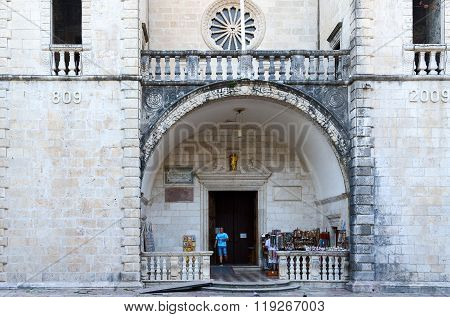 Entrance To The Cathedral Of Saint Tryphon, Kotor, Montenegro