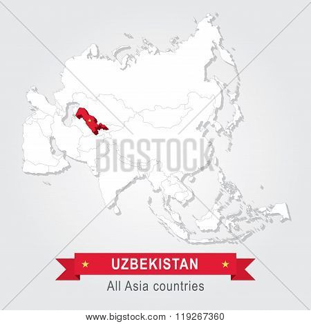 Uzbekistan. All the countries of Asia.