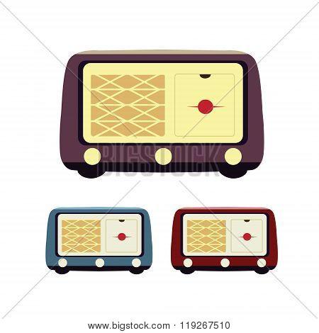 Retro radio flat icon