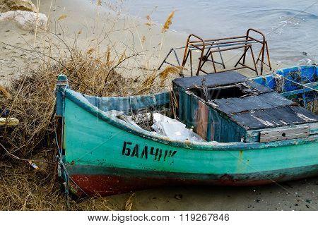 Boat on the seashore
