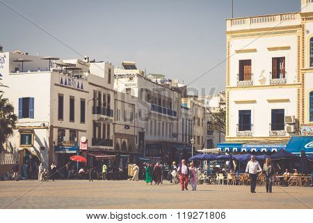 Essaouira, Morocco - May 4, 2013: Restaurant In Essaouira, Morocco. The City Was Called Sidi Megdoul