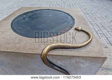 Cetinje snake on the well