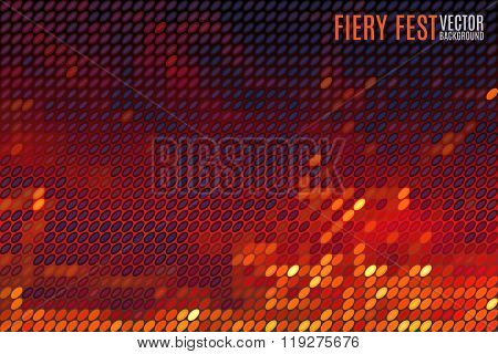 fiery vector background