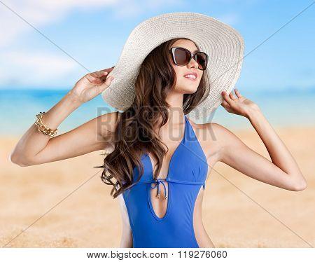 Girl beach.