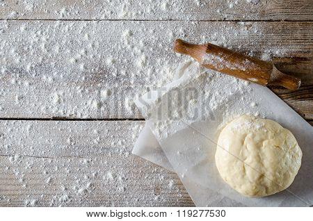 Ball of pizza dough