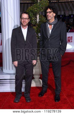 LOS ANGELES - FEB 01:  Joel Coen & Ethan Coen arrives to the