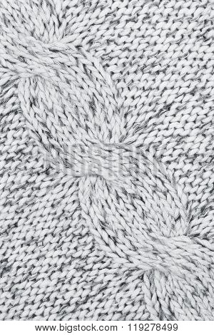 Grey Knitted Textured As Background