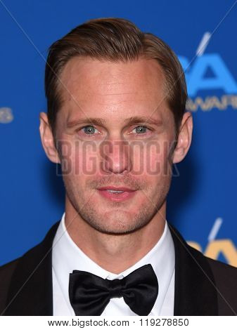 LOS ANGELES - FEB 06:  Alexander Skarsgard arrives to the Directors Guild Awards 2016  on February 06, 2016 in Century City, CA.