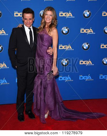 LOS ANGELES - FEB 06:  Christian LeBlanc & Michelle Stafford arrives to the Directors Guild Awards 2016  on February 06, 2016 in Century City, CA.