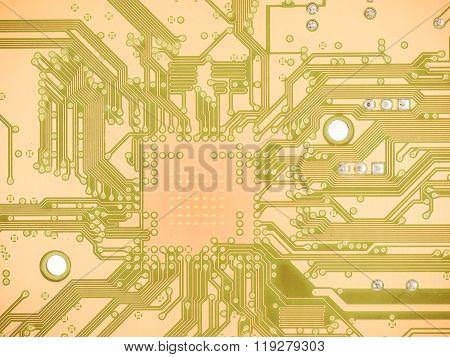 Printed Circuit Background Vintage